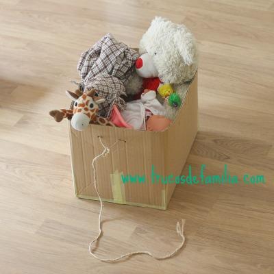 Carrito DIY con caja de cartón
