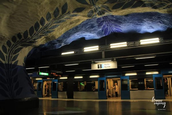 T Centralen beautiful metro stration Stockholm