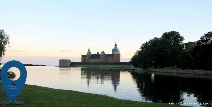 Kalmar Castle reflections on the water Sweden