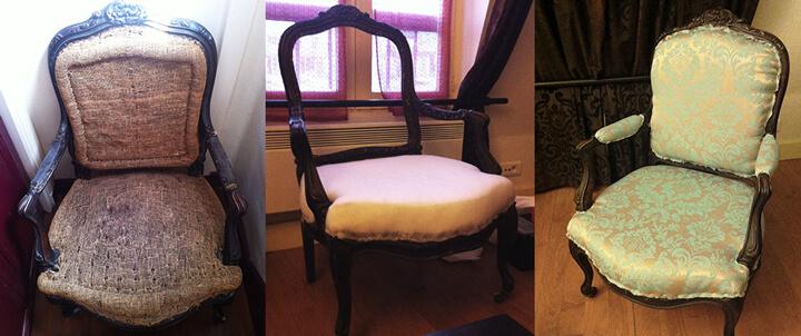 tapisser un fauteuil trucs de fille. Black Bedroom Furniture Sets. Home Design Ideas