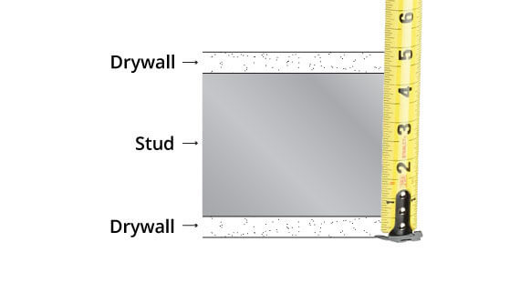 Measure Wall Thickness For Door Jambs Hollow Metal Drywall Frame