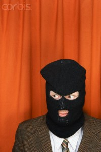 Man wearing ski mask