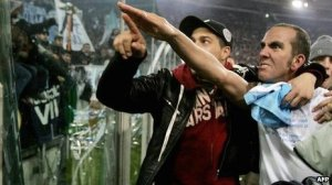Lest We Forget: Paolo Di Canio making a fascist salute to Lazio supporters in 2005.