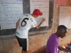 Running HIV Edication through football course in Uganda