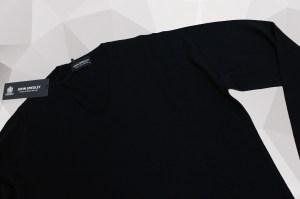 John Smedley Bobby Merino Wool V Neck Knit – Black
