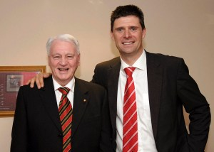 Sir Bobby Robson with SAFC Chairman Niall Quinn