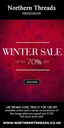 Northern Threads Winter Sale