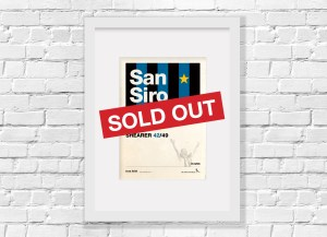 History Poster Inter Milan Sold out