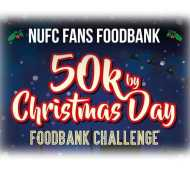 NUFC FANS FOODBANK 50k by Christmas Day Foodbank Challenge