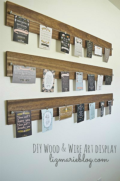 Find different ways to display printable wall art that can be easily changed depending on your mood.