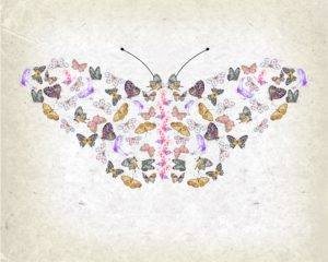 Celebrate the start of summer with this free watercolour butterfly printable on a vintage style background.