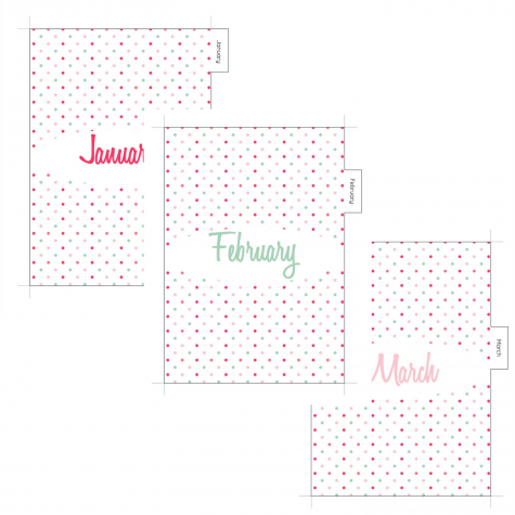 Polka dots Monthly Planner Dividers - Let's Do This!