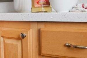 Get rid of all the grime and grease that can build up on your wooden cabinets.