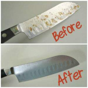Never throw away a rusty knife again.  You can get your knives looking like new by using this tip.