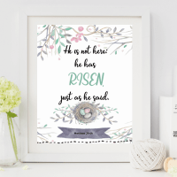 Sunday Scripture Printable Art – Matthew 28:6