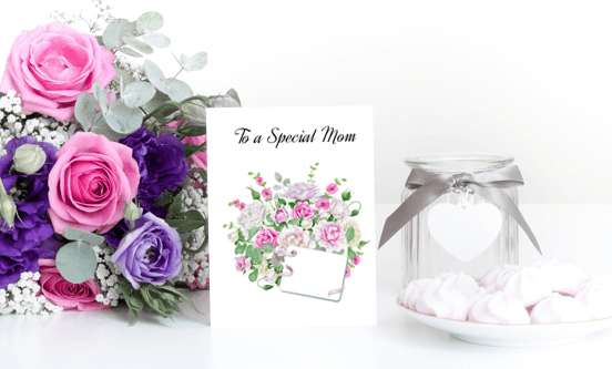 This free printable DIY card is a perfect card for Mothers. It's available in three different sizes with a watercolor design bouquet Click to read more and download your card at www.trueblissdesigns.com.