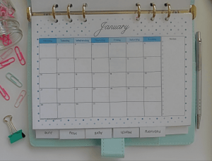 The 2019 printable calendar is available in Letter, A4 and A5 size and each month has a different polka dot design. Download the calendar today. For more freebies, visit www.trueblissdesigns.com.