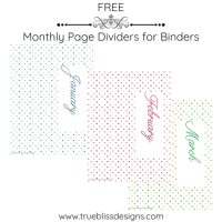 Page Dividers for Binders