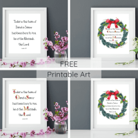 Sunday Scripture Printable Art Luke 2.11