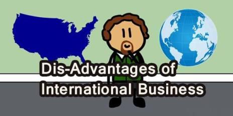 disadvantage of international business