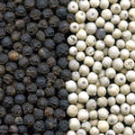 Black pepper and white pepper