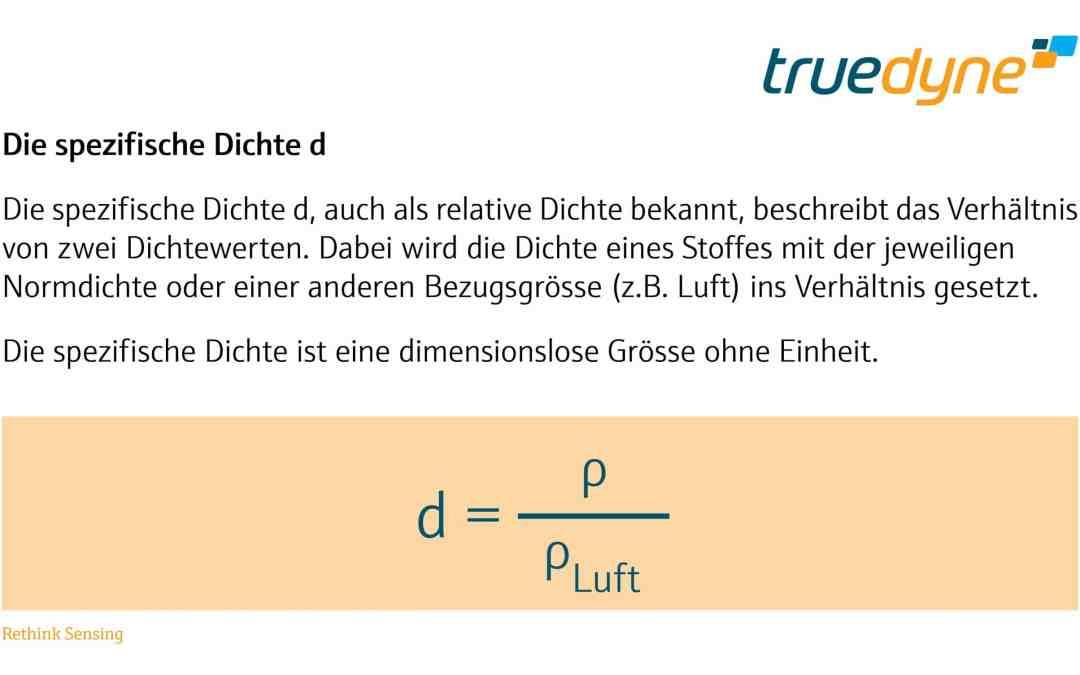 TrueDyne Bild - Die spezifische Dichte d