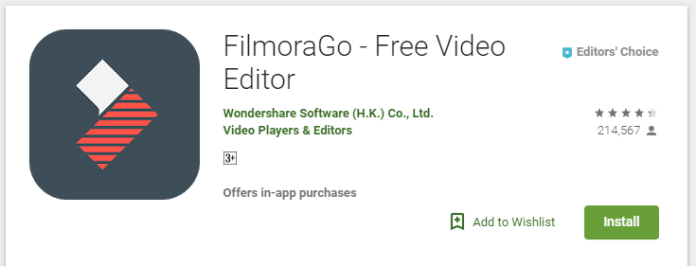 Filmora Go Video Editing App