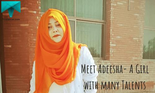 Meet Adeesha- A Girl with many Talents