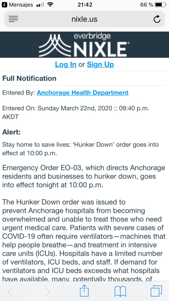 "The ""Hunker Down"" order issued by Mayor Ethan Berkowitz to try to contain COVID-19 goes into effect Sunday, March 22."