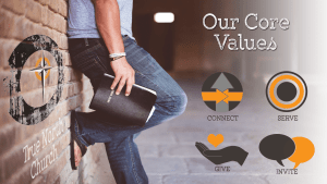 """Our Core Values"" Sermon Series"