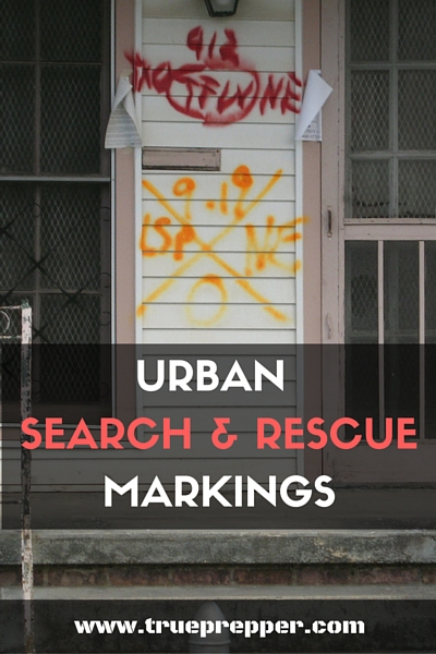 Urban Search and Rescue Markings
