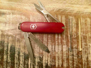 Swiss Army Knife Keychain - Open
