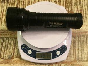 Caveman Flashlight Weight