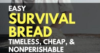 Easy Survival Bread: Timeless, Cheap, and Nonperishable