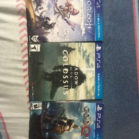 God of War, Horizon , Shadow of the colossus