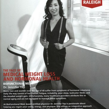 Dr Yap Recognized as Weight Loss and Hormone Specialist in Raleigh