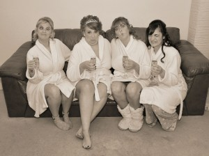 The girls  getting ready