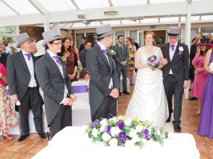 The wedding ceremony at The Lion Quays