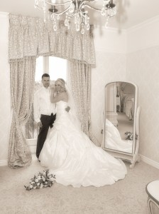 In the bridal suite at The Lion Quays