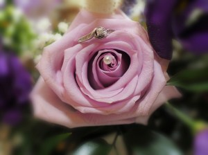 """Our signature """"ring and flower"""" shot"""