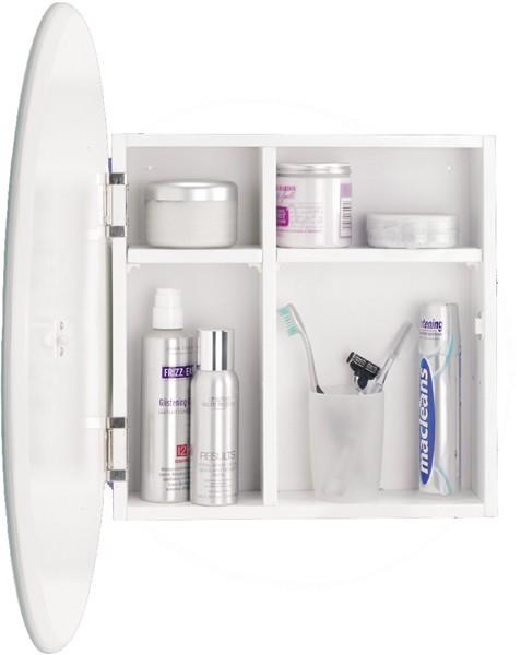 Round Mirror Bathroom Cabinet 525x525x105mm Croydex Cabinets CR CABINET04