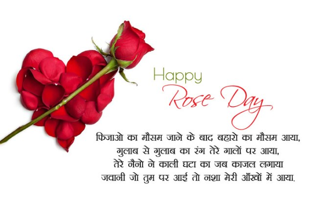7th Feb Romantic Rose Day Shayari - 7th Feb Happy Rose Day Images with Shayari