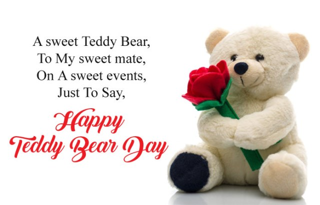 Happy Teddy Bear Day - Cute Happy Teddy Day Images for Whatsapp