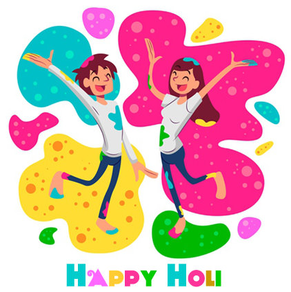 Holi Pic for Love Couple