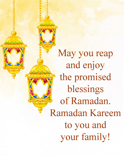 Ramzan Wishes for Family