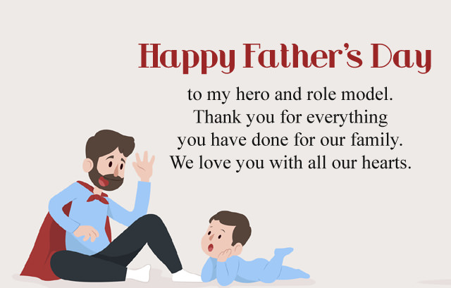 My Father Hero Messages From Son  - Fathers Day Images
