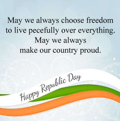 Happy Republic Day Wishes in English