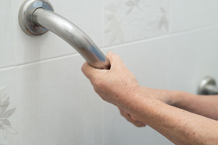 how to install bathroom safety bars
