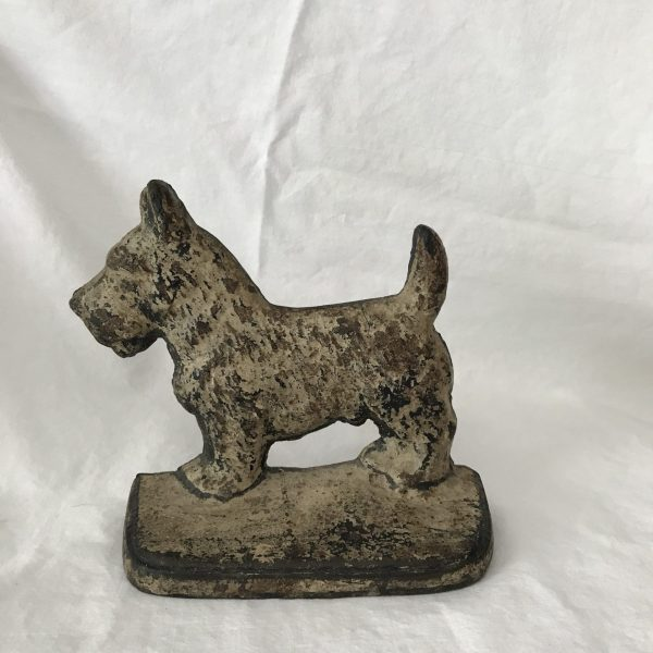 Vintage Doorstop Scottish Terrier Scottie Dog Cast Iron Door Stop farmhouse collectible dogs 3 lbs display