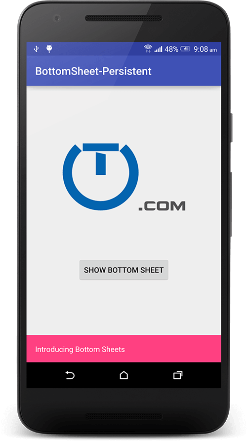 Android Bottom Sheet Example - Truiton